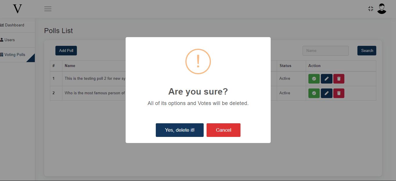 Codeignitor Voting Application