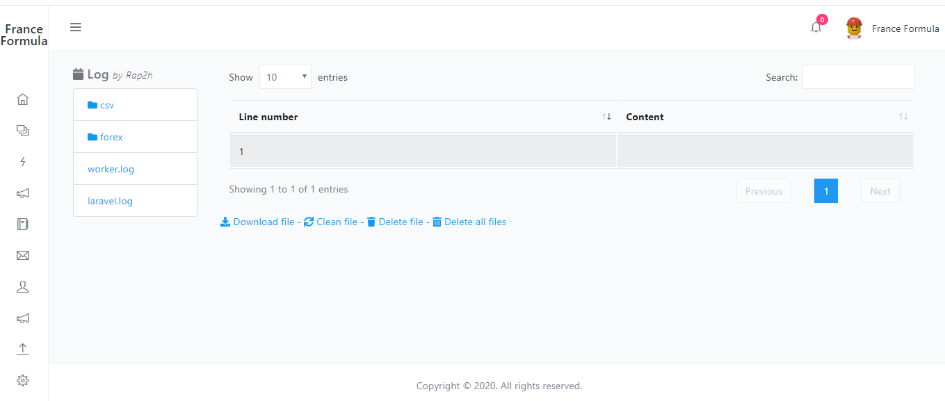 Laravel crm app forex api implementation