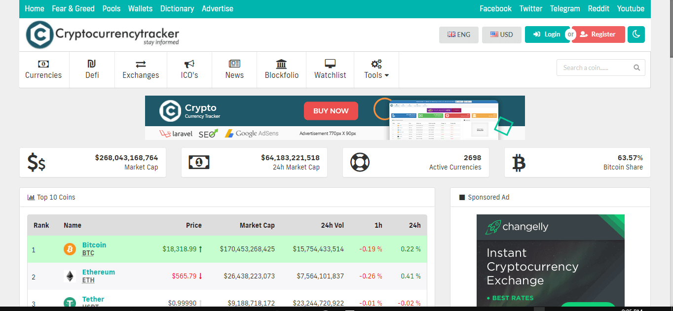 Cryptofinder condecanyon project by umarmajeed